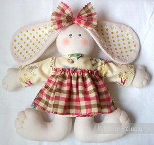 Children Craft Ideas.  Hare - Pattern of the Soft Toy